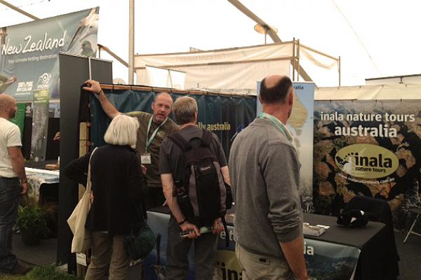 Inala's stand at the British Birdfair