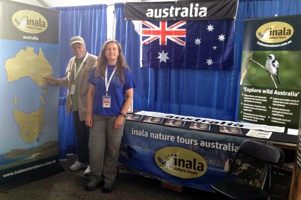 Bill Hildebrandt and Tonia psyching up at the US Bird Expo in Columbus Ohio