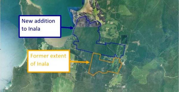 New addition to Inala - previous and new property boundaries.