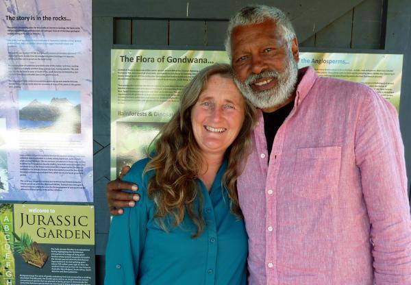 Tonia Cochran and Ernie Dingo